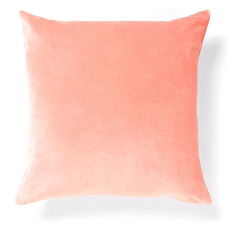 Aura Luxury Velvet Cushion in Rose