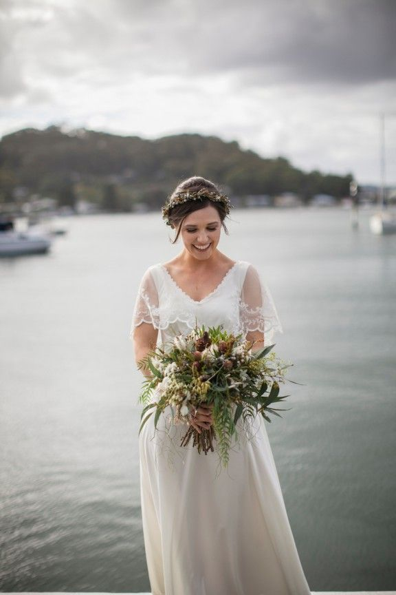 Australian native bouquet and flower crown by Merrin Grace | Maggie May Bridal | Photography by A bear a Deer a Fox