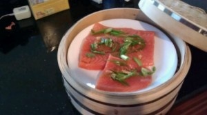 Steamed salmon with ginger garlic sauce | Fish on the Dish is Delish ...