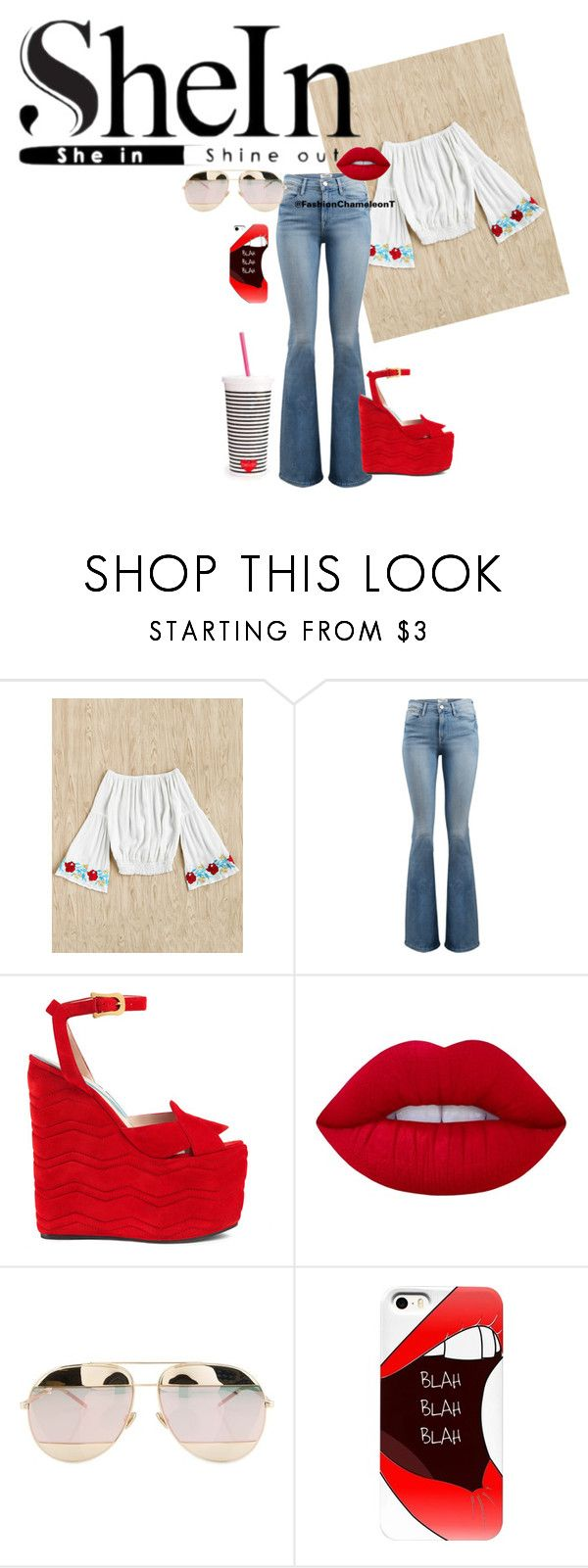"""SHEIN - WIN $30 COUPON CODE"" by fashionchameleont on Polyvore featuring Frame, Gucci, Lime Crime, Christian Dior and ban.do"