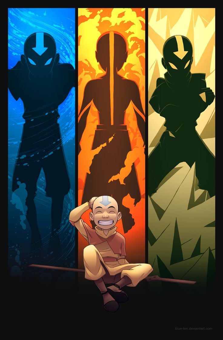 An 11x17 featuring an original composition of Aang from Avatar: The Last Airbender.