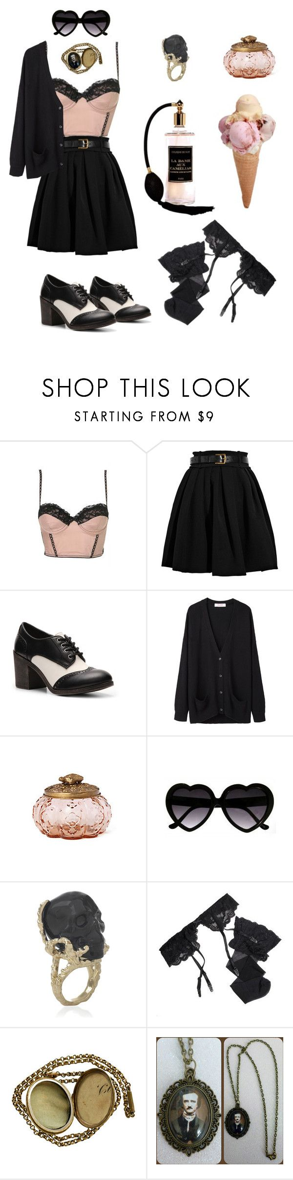 """Ice cream time!"" by my-playground-love ❤ liked on Polyvore featuring Topshop, Preen, Rock & Candy, Organic by John Patrick, Anthropologie and Reger by Janet Reger"