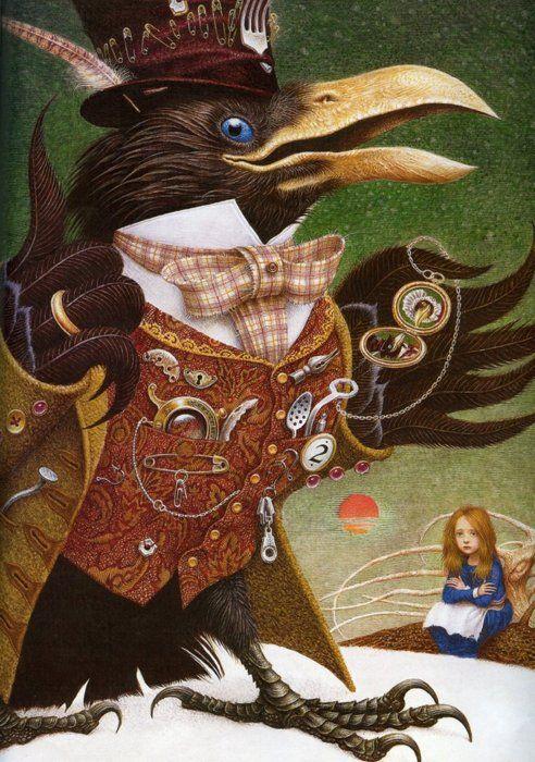 """The Snow Queen"" by Vladislav Erko....#crowVladyslav Yerko, Art, Illustration, Crows, Snowqueen, Ravens, Snow Queens, Vladislav Erko, Fairies Tales"