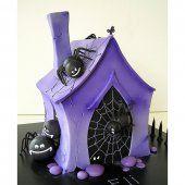 Gâteau d'Halloween : la maison hantée