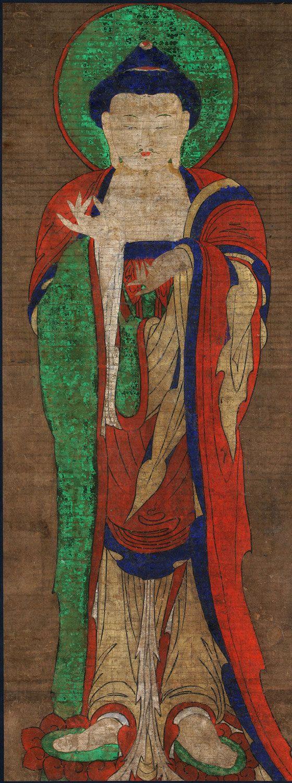 Buddha Standing Amitabha Made in Korea Period: Joseon Dynasty (1392-1910)