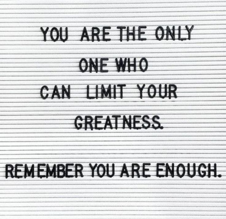 remember you are enough