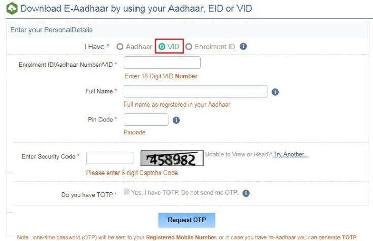 E Aadhar Card Download Online By Eaadhaar Uidai Gov In 2019 3