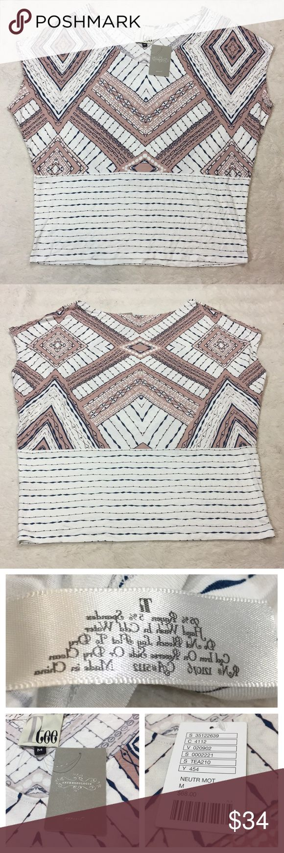 NWT Anthropologie Ttee Aztec Blouse New and Flawless Anthropologie Ttee Size M Soft Blouse Anthropologie Tops Blouses