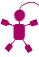 USB HUBMAN - Accessorio per ufficio - rosa