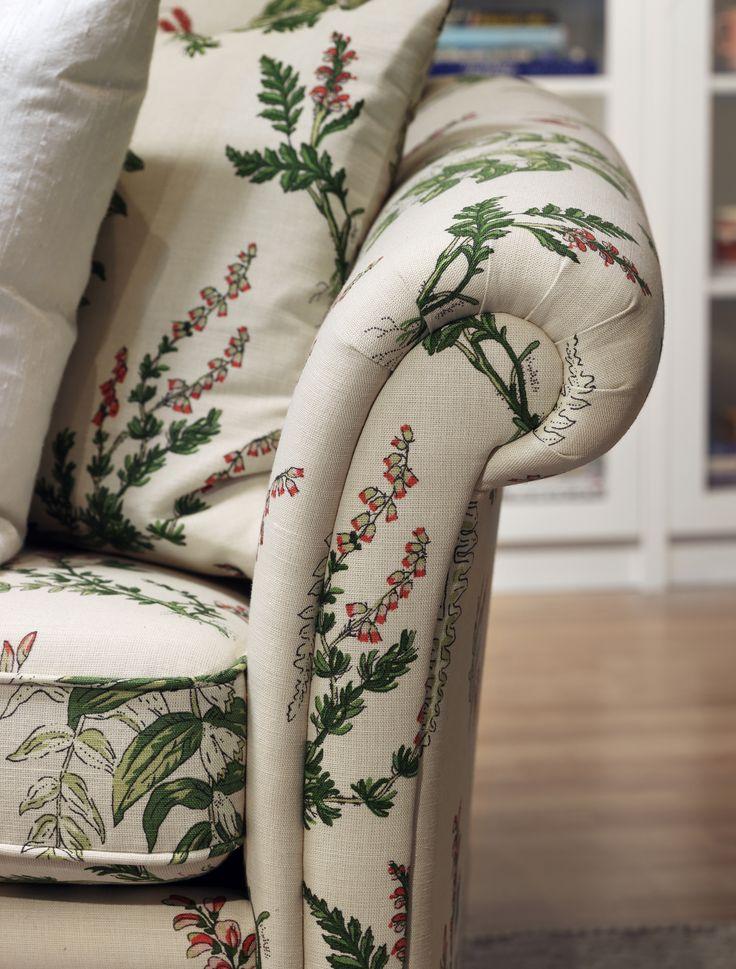 ELSA soffa #SvenskaHem #BrödernaAnderssons #Svensktillverkad #Detaljer #Blommig