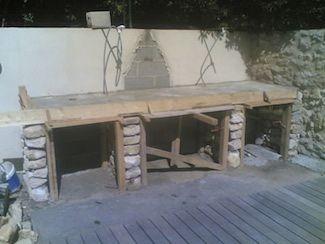 Construction plan de travail barbecue barbecue en 2018 - Faire une cheminee en cuisine ...