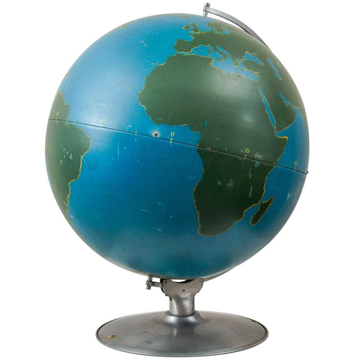 1940s Aviation Military Industrial World Globe | See more antique and modern Globes at http://www.1stdibs.com/furniture/more-furniture-collectibles/globes