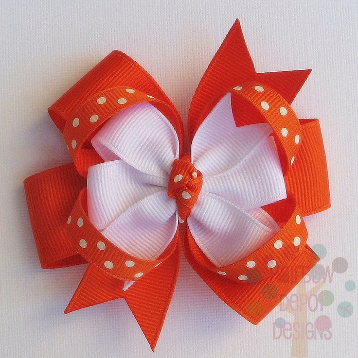 stacked hair bow instructions