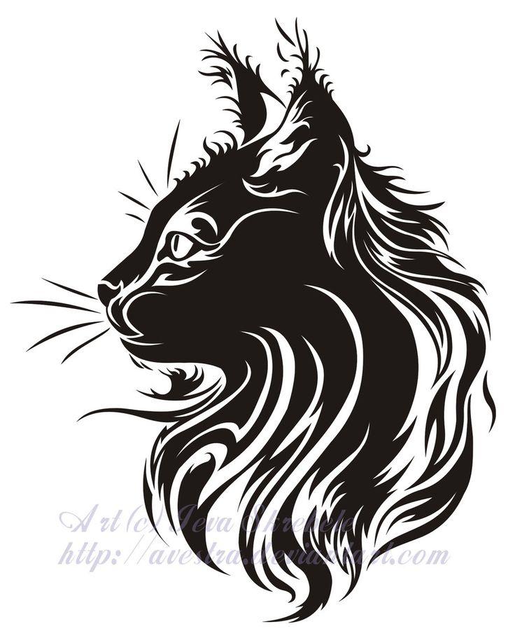 Cat Profile Tribal Tattoo by Avestra on DeviantArt