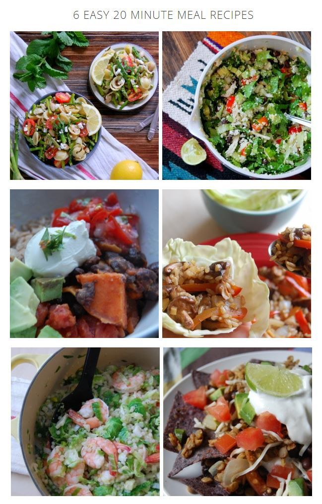 6 Easy 20 Minute Meal Recipes // Uproot from Oregon