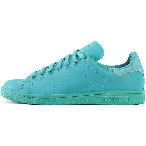 adidas The Stan Smith Adicolor Sneaker in Teal ($70) ❤ liked on Polyvore…