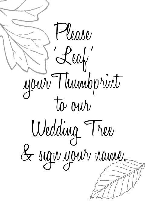 18 by 24 Large Vertical Wedding Thumbprint Tree by ArtbyAnnett
