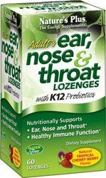 Natures Plus  Adults Ear Nose  Throat Lozenges 60 ** Visit the image link more details from Amzon.com