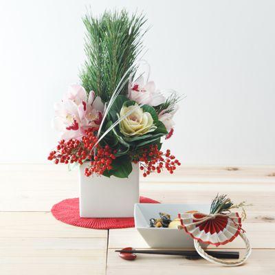 【ネット限定】松とシンビジュームのお正月アレンジ ピンク M | 無印良品ネットストア