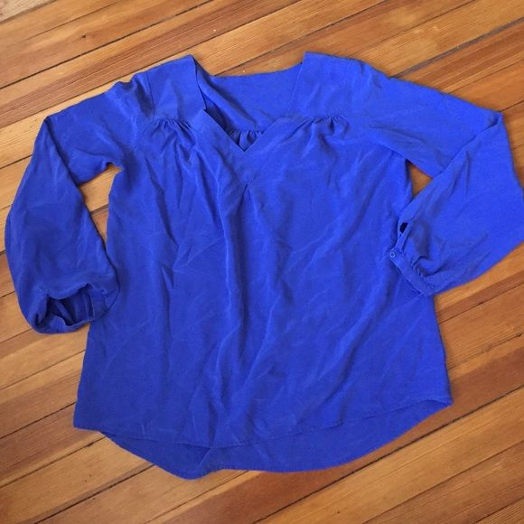Royal blue Silk blouse Beautiful royal blue color, 100% silk, flowy flattering fit Tops Blouses