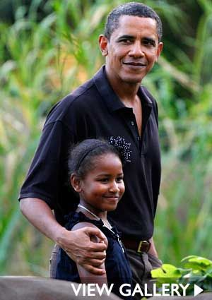 Barack Obama -- not the best president but a wonderful father and family man :)