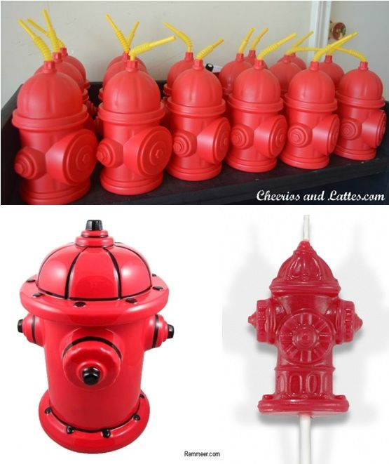 Fire hydrants for dog themed party