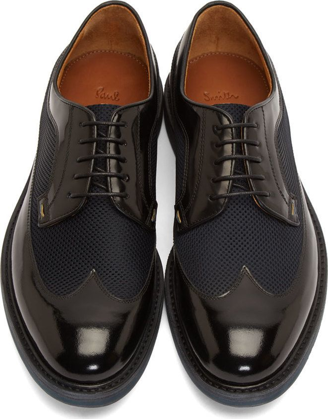 Paul Smith Black Leather & Mesh Maddison Longwing Derbys