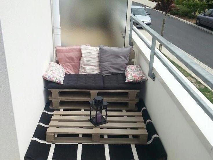 1000 ideas sobre apartamento con jard n balc n en - Muebles para balcon pequeno ...