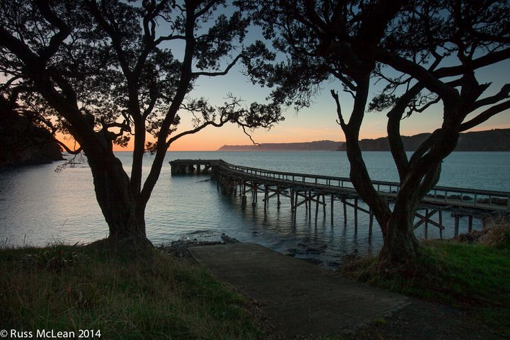 """""""The Wharf at Hicks Bay"""" - East Coast of NZ's North Island.   Isolated & neglected, the old wharf at Hicks Bay is now just a reminder of the economic activities of East Coast sheep farmers in the 1920's.    For more information, please visit website."""