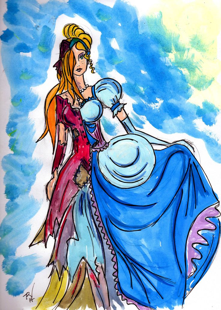 Cinderella Flees the Ball by Trish Chamberlain
