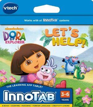 VTech InnoTab Software - Dora the Explorer by VTech. $15.00. 3 interactive learning games reinforce skills such as letters, shapes and counting. 2 creative activities create an adventure story and help dora plant a flower garden. Pop-up dictionary uses animated definitions to teach new vocabulary in a fun way. Player's creations may be saved to the InnoPad onboard memory, or SD card (sold separately). E-book tells the story of Dora and Boots as they set out on...