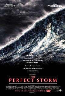 The Perfect Storm Movie Poster 27x40 Used Cherry Jones, Bob Gunton, Sandy Ward, Merle Kennedy, Mark Wahlberg, Michael Ironside, Rusty Schwimmer, George Clooney, William Fichtner, Marcio Rosario, John C Reilly