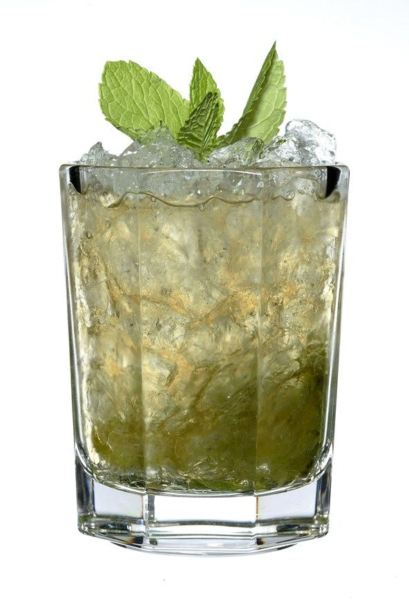 Swap a mint julep…  A favourite of Gatsby and the like, this is made by muddling mint leaves with bourbon and sugar syrup, serving with crushed ice.   Calories: 246