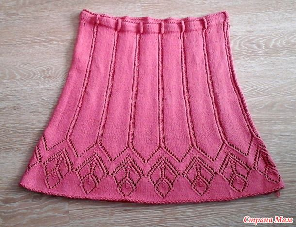 Летняя юбка Розовый трилистник