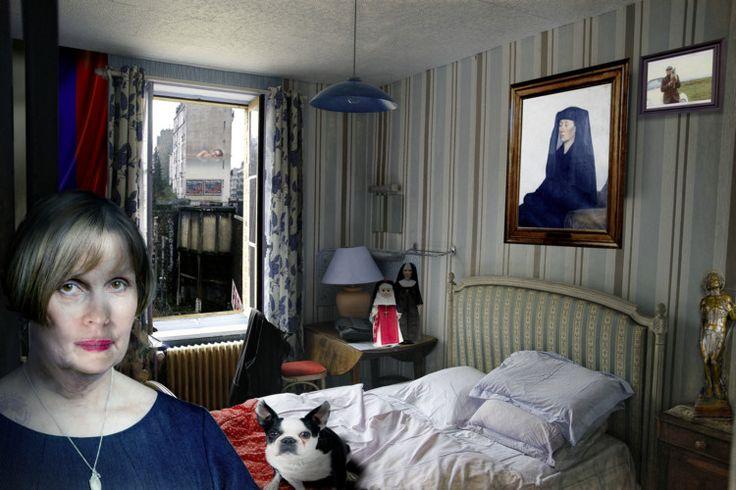 Série face à face - Madame Andrea et Hector - Photographie,  60x40 cm ©2016 par lionel morateur -                                        Papier, Personnes