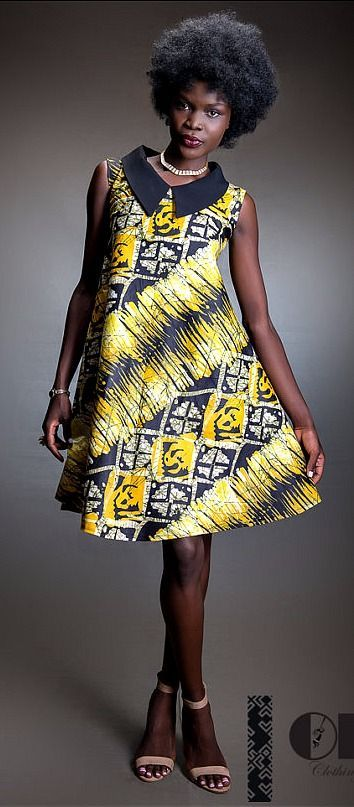 This simple and classy African print dress with chiffon ...