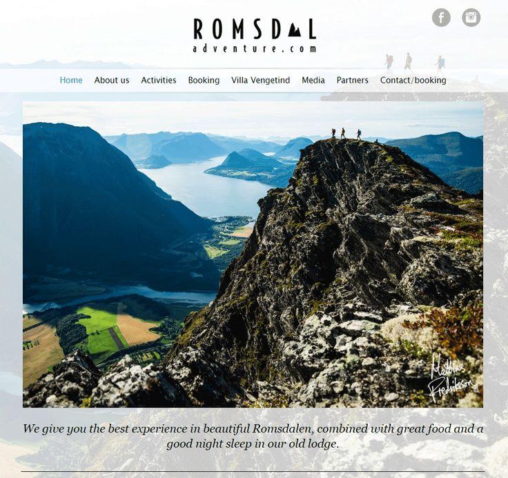 Dette er nettsiden til Romsdal Adventure. De har valgt å bruke Idium Web+.