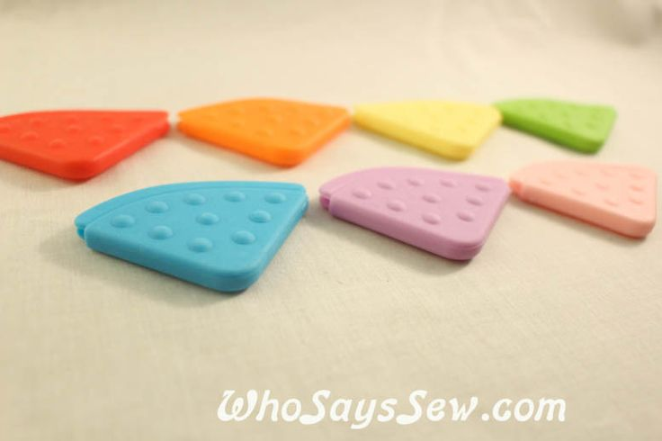 7 Angled Sew-On Teething Corners in 7 Colours - Who Says Sew