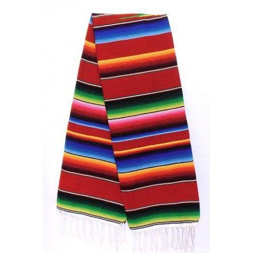 Sarape de saltillo, cuatro tamaños, variedad de colores