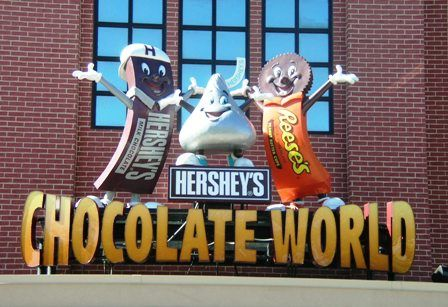 If you have a sweet tooth visit Hershey, Pennsylvania.