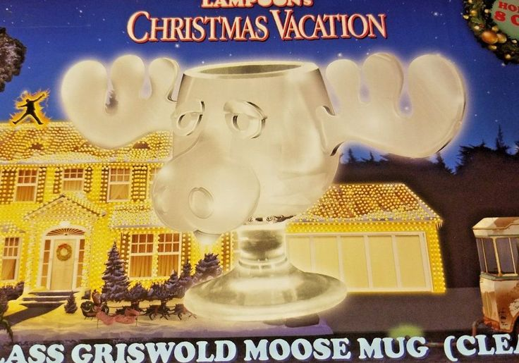 National Lampoons Christmas Vacation Glass Moose Mug 8 oz NIB  #NotApplicable