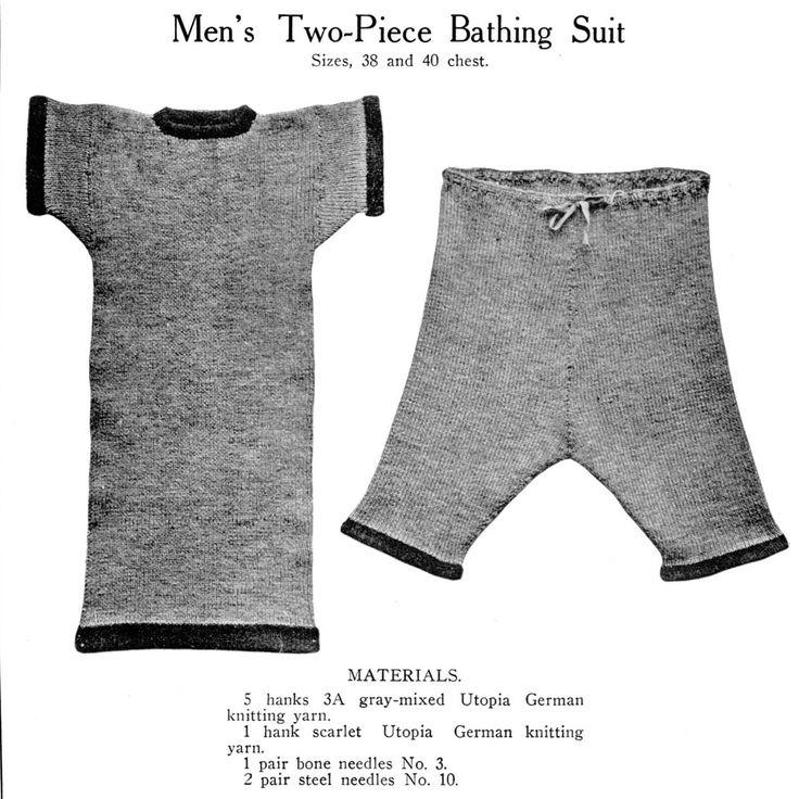 Inoltre i tessuti in maglia venivano utilizzati come costumi da bagno sia per donne aie per uomini.