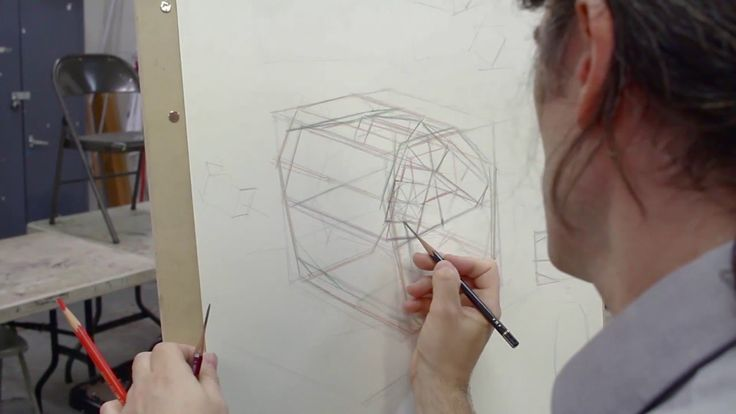 "Structural Drawing Demo: Art League instructor Dan Thompson previews some of the principles from his workshop, ""Mastering Organic Form Through Structural Drawing."""