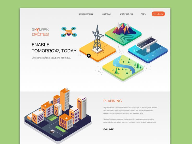 Drones - Landing page
