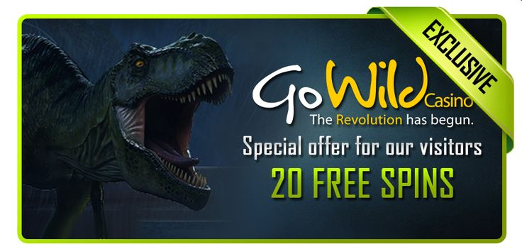 Go Wild Casino - 20 Free Spins on new Jurassic Park Slot! http://bit.ly/1rbJhYN