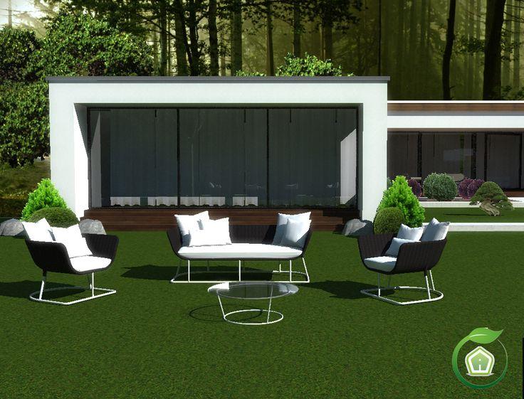 3d Garden Design - design and services: villa exterior rendering  #garden #outdoor #talentisrl #airset #gardenproject