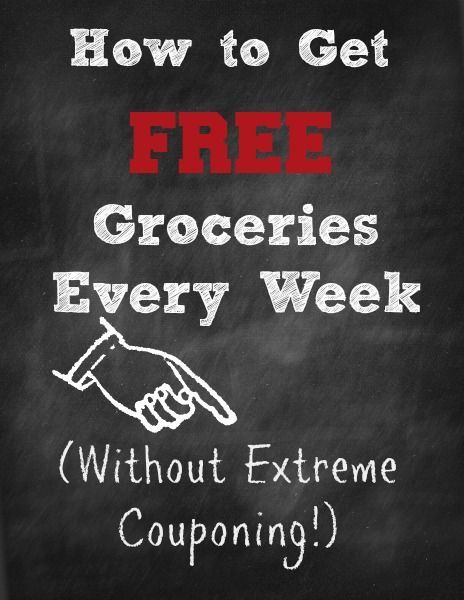 Check out this life hack: How to Get Free Groceries without couponing. Your guide to saving your family money.