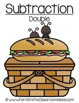 Quick and Easy to Prep Subtraction Double Center with a Cute Picnic Theme #TPT #Free