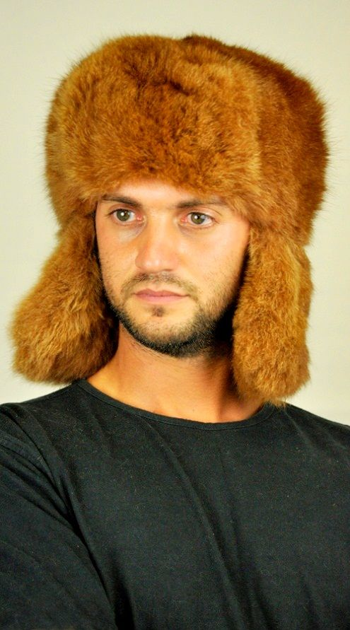 Possum fur hat, Russian style. This extremely warm and soft fur hat fits men wishing to be trendy even in cold winter.   www.amifur.co.uk