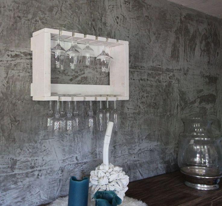 Glashalter Gläserhalter Doppelreihig für 24 Gläser Weinglashalter Holz Sektglas
